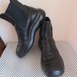 PRADA 37 or 6 M Chelsea Boots Black Leather Women